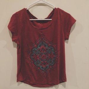 Lucky Brand red mandala shirt